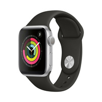 Apple Watch Series 2 A1758 42mm Silver Aluminium Case w/ Black Sport Band As New