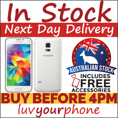 Samsung Galaxy S5 Mini 16GB G800Y White 4G Locked to Telstra